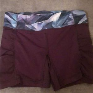 Lululemon fitted workout shorts